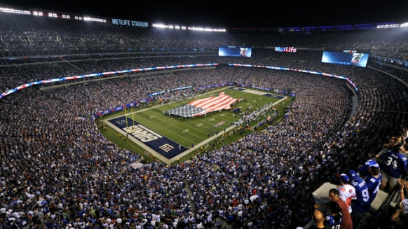 A general overall view of the Metlife Stadium as the New York Giants host the Dallas Cowboys in the opening game of the NFL football season in East Rutherford
